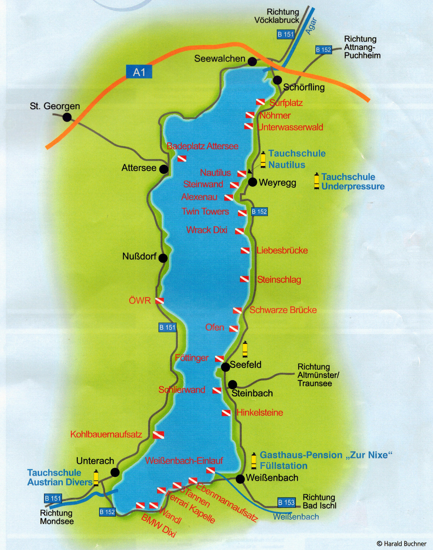 attersee diving map